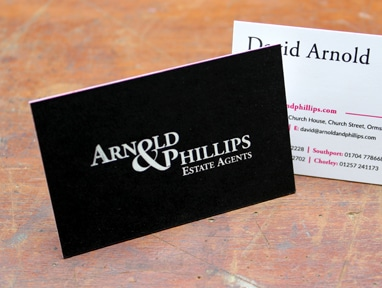 Foil blocked business cards blind debossed duplexed and triplexed view product reheart Image collections