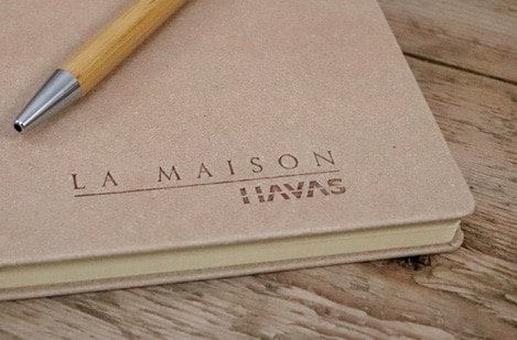 Branded Recyled Leather Notebooks