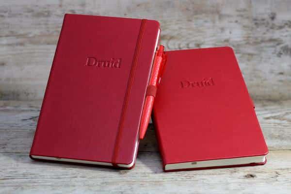 Branded Castelli Notebooks in Red