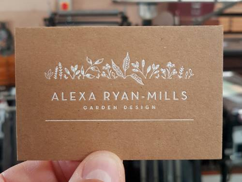 Kraft Business Card With White Foil