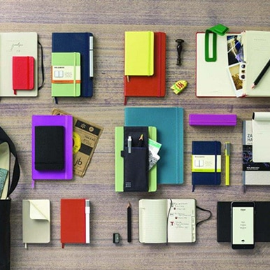 A selection of Moleskine Notebooks