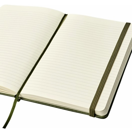 Open Moleskine Leather Notebook Showing Ribbon Marker
