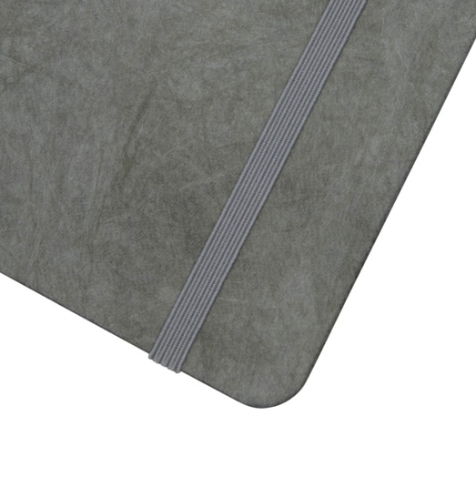 Grey Stone Paper Journal With Elastic Closure