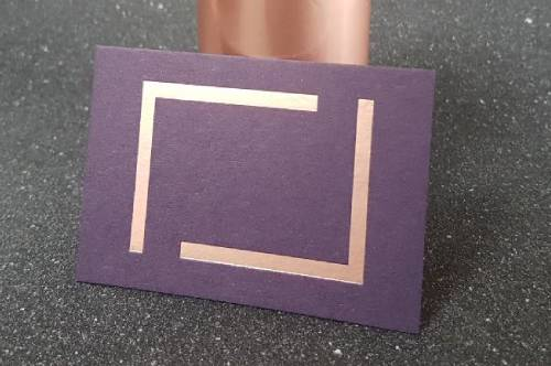 Rose Gold Foil on Amethyst Colorpla Business Card